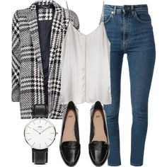 Untitled #3906 by laurenmboot on Polyvore featuring Ian R.N., MANGO, Yves Saint Laurent, H&M and Daniel Wellington