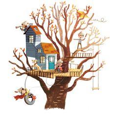 treehouse illustration by Marta Dlugolecka (Marta Kissi) (2d style)