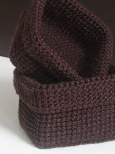 MyWay: Square crochet baskets