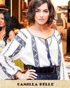 Camilla Belle looks stunning in ethnic Romanian blouse