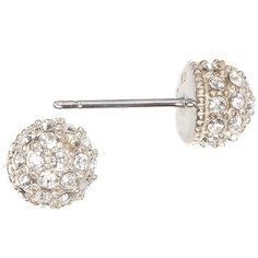 Judith Jack Fireball Swarovski Crystal and Sterling Silver Stud... ($50) ❤ liked on Polyvore featuring jewelry, earrings, gold, post earrings, swarovski crystal stud earrings, disco earrings, glitter stud earrings and glitter earrings
