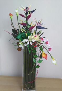 Tropical flowers bouquet. - Cake by lumipo