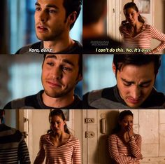 Supergirl ~ Karamel breakup... They both looked SO heartbroken that I actually teared up too
