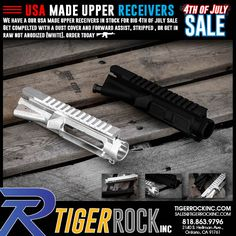 View on webOne of the most essential parts in the AR-15 is the Upper Receiver. We have them completed, stripped, and available in RAW (not anodized). Log on today www.tigerrockinc.com and get the deals you need.site. #4thofjuly #sale #ar15, #ar15parts, #ar15news, #ar15porn, #tigerrockinc, #tigerrockincar15parts, #guns, #gunparts, #gunnews, #gunsusadaily,