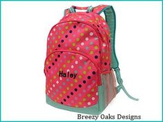 Backpack,Teen Backpack, Diaper Bag, Monogramed Backpack, School Bookbag, Kids Backpack, Full Size Backpack, Rucksac, Personalized by breezyoaksdesigns. Explore more products on http://breezyoaksdesigns.etsy.com