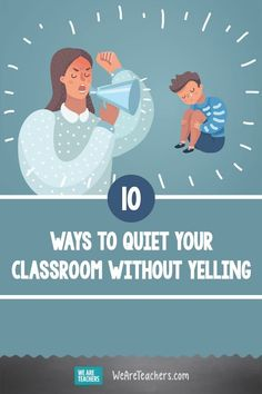 Yelling Doesn't Work With Kids. Tired of losing your voice shouting over your noisy class? Experienced teachers offer advice on how to stop yelling to get your students' attention. Classroom Behavior Management, Behavior Plans, Behaviour Management, Behavior Charts, Old Teacher, Teacher Binder, Teacher Hacks, Classroom Hand Signals, Reading Task Cards