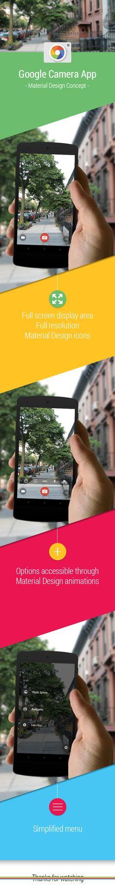 Google Camera app redesign on Behance