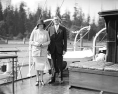"""Boeing on the deck of M. """"Taconite,"""" July (Photo by Stuart Thomson, via Vancouver Archives) July 15, Archive, Deck, History, City, Front Porch, Decks, Historia"""