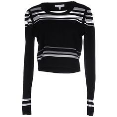 Milly Jumper ($200) ❤ liked on Polyvore featuring tops, sweaters, black, long sleeve sweater, lightweight sweaters, jumpers sweaters, jumper top and milly sweater