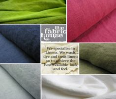 Our speciality it that we can dye linens to any colour you may desire. We are really good at matching colour.