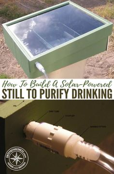 Winter Preparedness: How To Build A Solar-Powered Still To Purify Drinking Water — This is a great project to purify any water to get drinking water. It uses no electricity or man made heat, just the power of the sun. These stills even work in winter. Solar Still, Beton Diy, Solar Projects, Diy Projects, Best Solar Panels, Solar Water, Solar Charger, Solar Energy System, Diy Solar