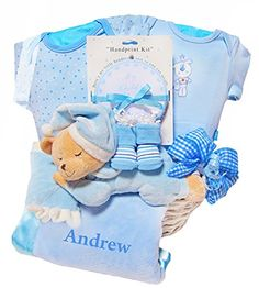 Personalized rocking horse baby boy gift gifts baby and shower beary naptime personalized baby gift basket boy for personalization add the babys name negle Gallery