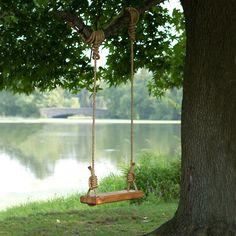 Reclaimed Floor Joist Tree Swing