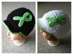 Cancer awareness hat- made for lymphoma cancer (can be made to support any cancer)- from Handspuncreations on etsy