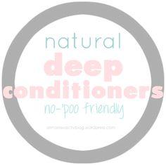 natural deep conditioners (no-poo friendly)