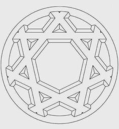 22 hexagram 3d beginner mandala coloring pages