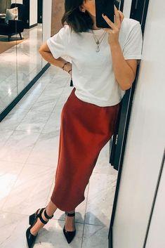 6c047fbec Topshop Red Satin Bias Cut Stretch Midi Pencil Skirt 18 L BNWT #fashion  #clothing
