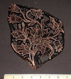Handmade Indonesian Copper Batik Stamp/Cap/Tjap
