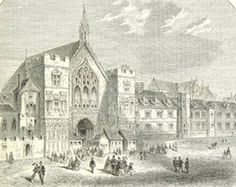 Palace Yard, London From: 1867 The National and Domestic History of England via Google Books