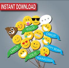 Emoji Photo Props-Instant download Printable by Stardyprintables