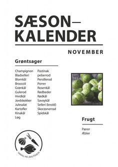 Sæsonkalender November | Smag På Årstiden