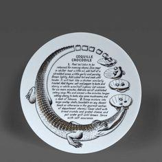 Piero Fornasetti A Piero Fornasetti Fleming Joffe Recipe Plate Coquille Crocodile