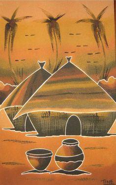 Cuadros de arena de Senegal: junio 2011 Watercolor Night Sky, Snoopy Pictures, African Paintings, Contemporary African Art, African Theme, Peacock Art, Africa Art, African American Art, Aboriginal Art