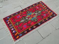"Anatolia Turkish Rug 3' X 4'6 Hand Woven Wool Maras Kilim 37"" X 68"" Transitional Area Rugs, Turkish Kilim Rugs, Bohemian Rug, Hand Weaving, Carpet, Wool, Ebay, Hand Knitting, Blankets"