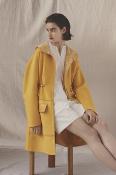 #Hermes #yellow #coat