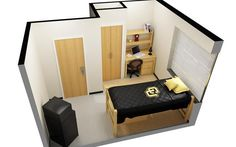 Example of a single style room at #CUBoulder, click the image for more information. #BoulderBound