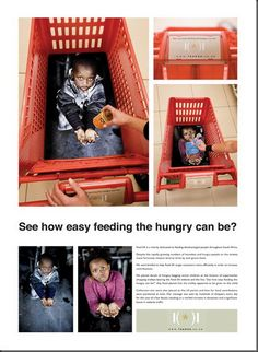 World hunger campaign ads
