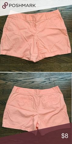 Adorable summer shorts 6 in inseam, a cute coral/peach color. Worn, but good condition.   Great style to dress up or down, just didn't get used enough to keep! LOFT Shorts