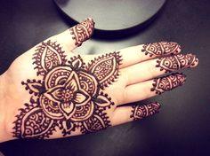 Image of: easy flower henna simple floral mehendi design cute henna for henna tattoos for Henna Hand Designs, Henna Designs For Kids, Henna Flower Designs, Henna Tattoo Designs Simple, Tattoo Design For Hand, Tatto Design, Mehndi Designs For Beginners, Henna Tattoo Meanings, Cool Henna Tattoos