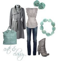 gray and turquoise