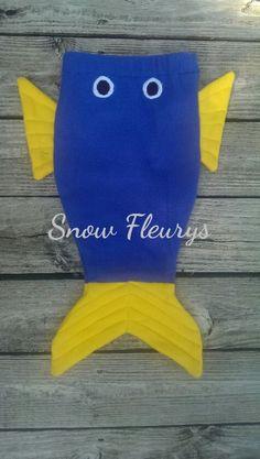Fish, shark, mermaid tail blankets made of fleece. Size xxs to L https://www.facebook.com/SnowFleurys/