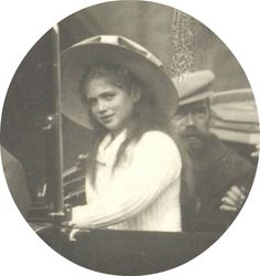 Tsar Nicholas ll of Russia with Grand Duchess Maria Nikolaevna Romanova 1910