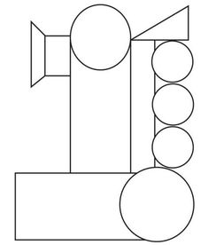 donald crews freight train coloring pages | Shapes train worksheets | *Themes | Train template, Train ...