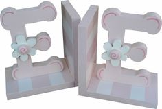 Pink Initial Bookends | Jack and Jill Boutique
