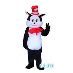 HOT High quality magic cat cartoon mascot costumes Halloween party adult size