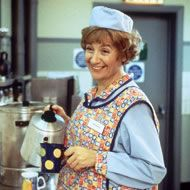 "Victoria Wood in ""Dinner ladies"", one of her funniest! Comedy Actors, Actors & Actresses, English Comedians, Victoria Wood, British Comedy, Famous Movies, Favorite Tv Shows, Movie Stars, Celebs"