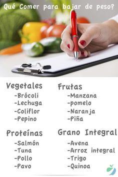 Deseas saber qué comer para bajar de peso saludablemente? Comer estos alimentos te ayudará a bajar de peso y ser #saludable sin tener que hacer dietas. #comersaludable #bajardepeso