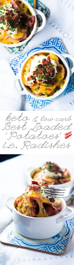 Best Keto Loaded Radishes i.e.'Potatoes'  #ketoradishes #ketosides