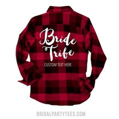 There's nothing cuter than custom flannels! Celebrate the bride to be with matching bride tribe plaid flannel shirts. Put your own custom text on this long sleeve comfy shirt and wear it to all your bachelorette party festivities. Bachelorette Party Gifts, Bachelorette Weekend, Bachelorette Parties, Brides Maid Shirts, Bridal Shirts, Party Shirts, Custom Shirts, Flannels, Flannel Shirts