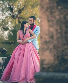 Wedding Poses Pre Wedding Shoot - Bride in a Pink Flare Gown and Groom in a Blue Suit with Pink Detailing Pre Wedding Poses, Wedding Couple Photos, Pre Wedding Photoshoot, Bridal Shoot, Wedding Couples, Couple Shoot, Photoshoot Dresses, Pre Wedding Shoot Ideas, Couple Posing