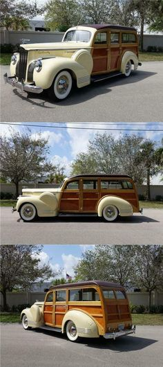 1941 Packard One Twenty Deluxe Woody Wagon [Finest Restoration] Woody Wagon, Vero Beach, Station Wagon, Cars For Sale, Touring, The Twenties, Antique Cars, Restoration, Cutaway