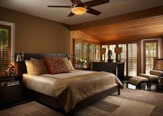 Gorgeous magnificent bedroom with  lovely earth tone colors!