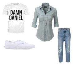 """Untitled #60"" by mkcorniel on Polyvore featuring LE3NO, Vans and Levi's"