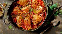 Kurczak po baskijsku z ryżem Lidl, Tandoori Chicken, Paella, Chicken Wings, Slow Cooker, Chili, Shrimp, Food Porn, Mexican