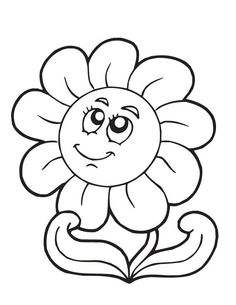 ~~pinned from site directly~~ . . .  Spring Flower - Free Printable Coloring Pages