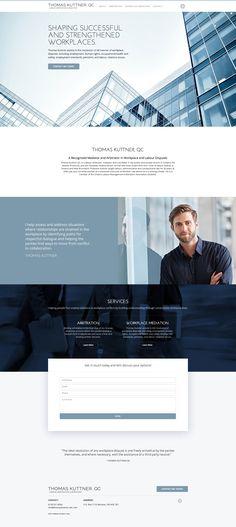 Thomas Kuttner Lawyer Website Design #lawyerwebsites #lawfirmwebsite #lawyer…
